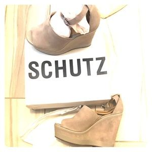Schutz wedge shoes
